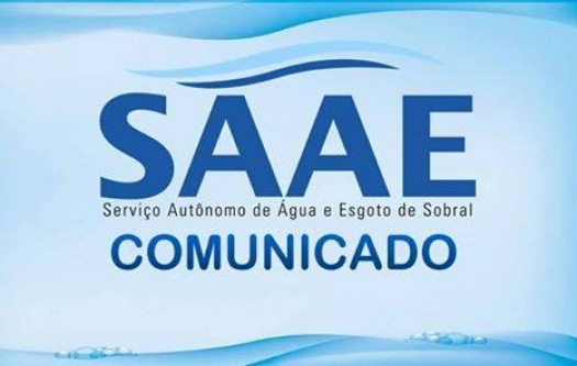 COMUNICADO DO SAAE DE SOBRAL